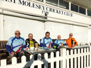 Clarencourt cycling club molesey cricket club day out